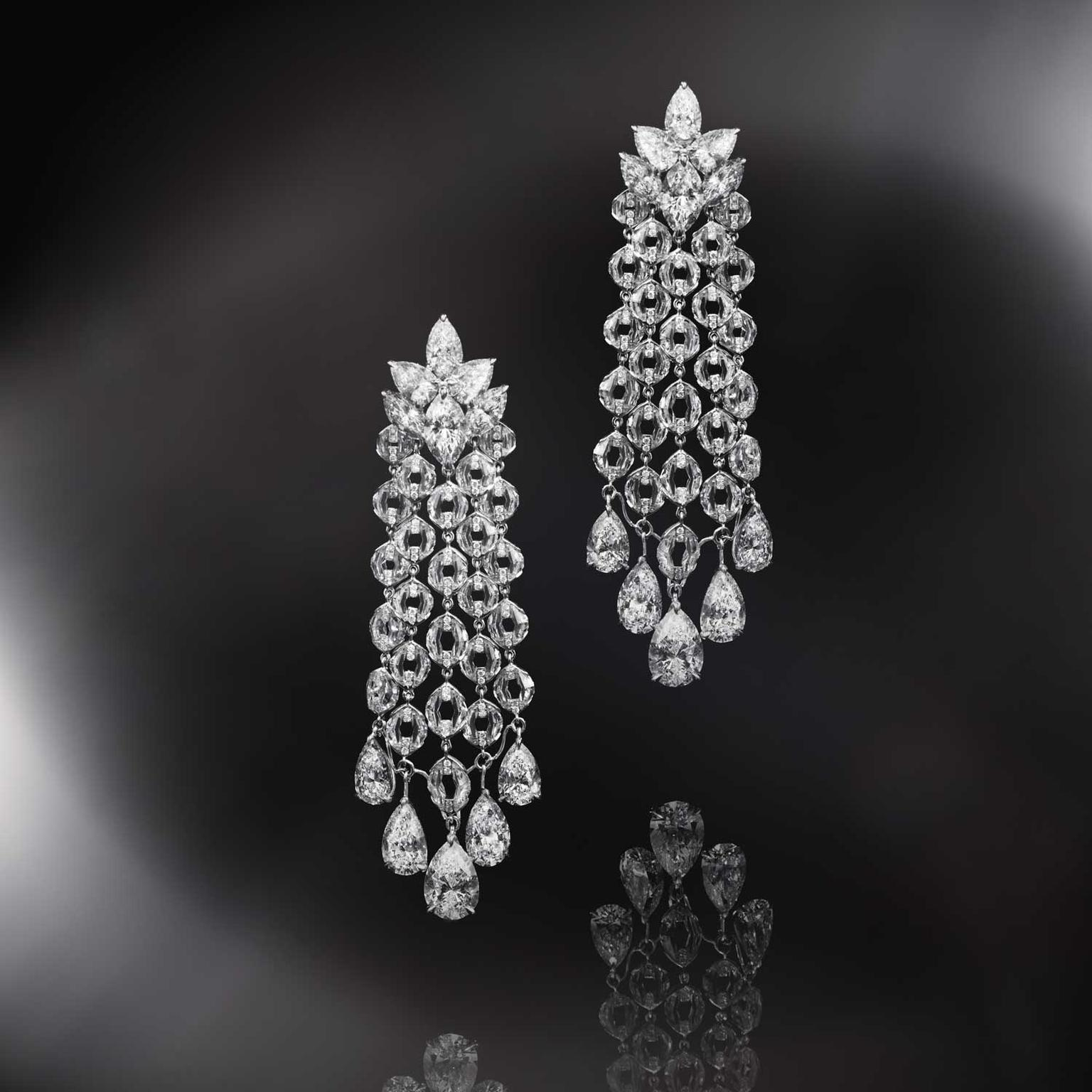 Nirav Modi Waterfall diamond earrings