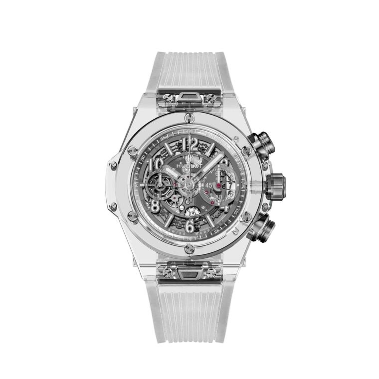 Hublot Big Bang Unico Sapphire watch white background