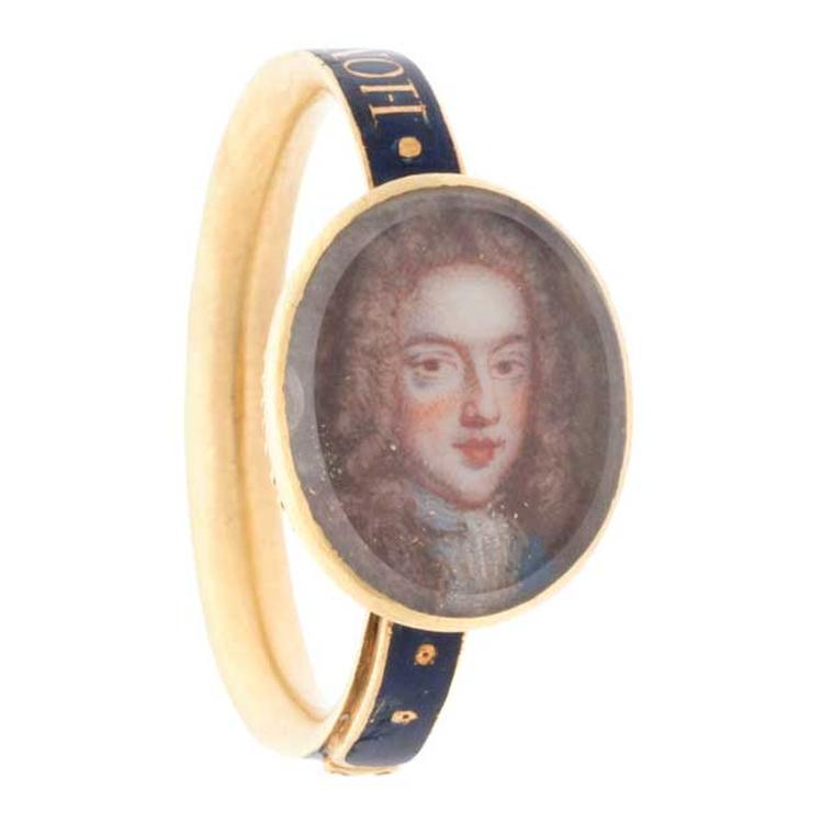 Stuart ring featuring James Francis Stuart