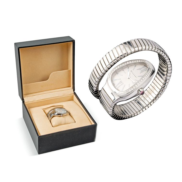 Paddle 8 Bulgari Serpenti watch and presentation box