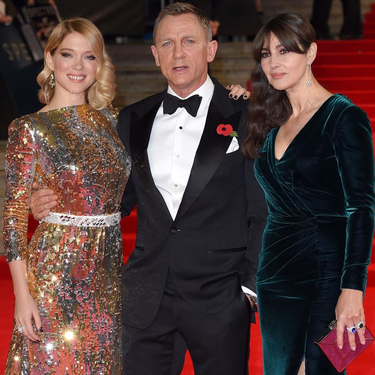 Bond girls Léa Seydoux and Monica Bellucci wearing Chopard