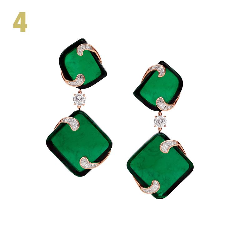Bulgari Giardini italiani Hidden Treasures emerald earrings