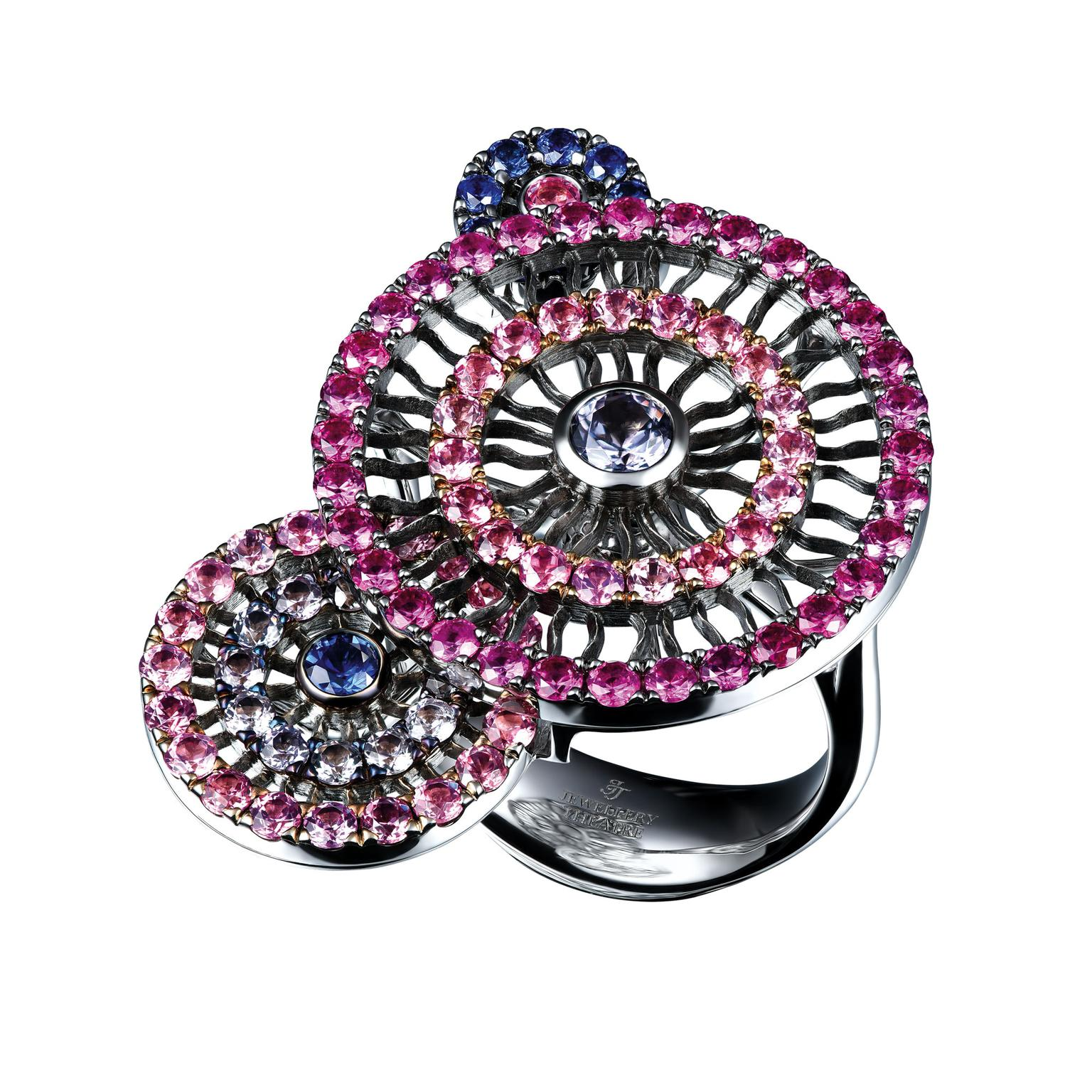 Jewellery Theatre spinel and sapphire ring