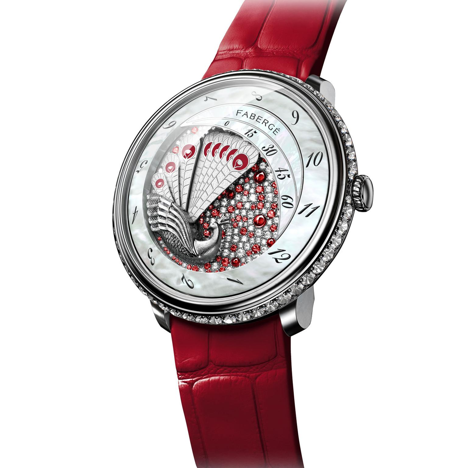 Fabergé Lady Compliquee Peacock ruby watch