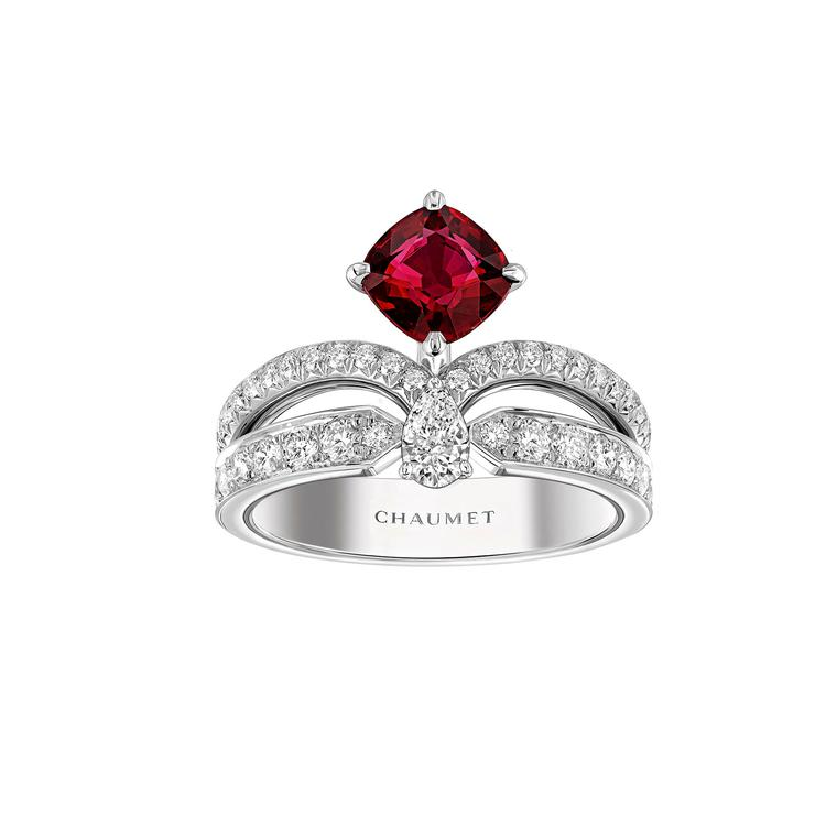 Chaumet Joséphine Eclat Floral ruby ring