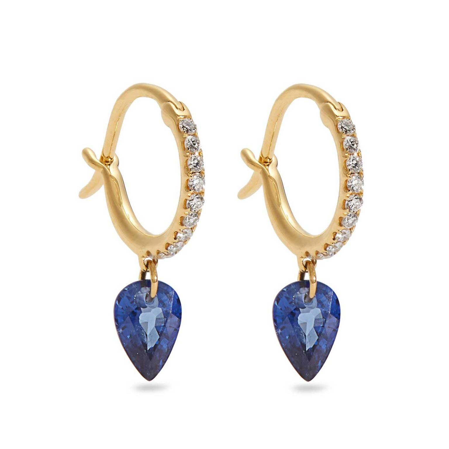 Raphaele Canot Set Free sapphire huggie earrings