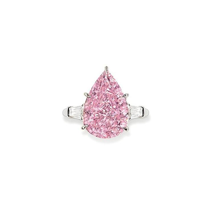 Light of Memory 9.14 carat pear-shaped Fancy Vivid pink diamond