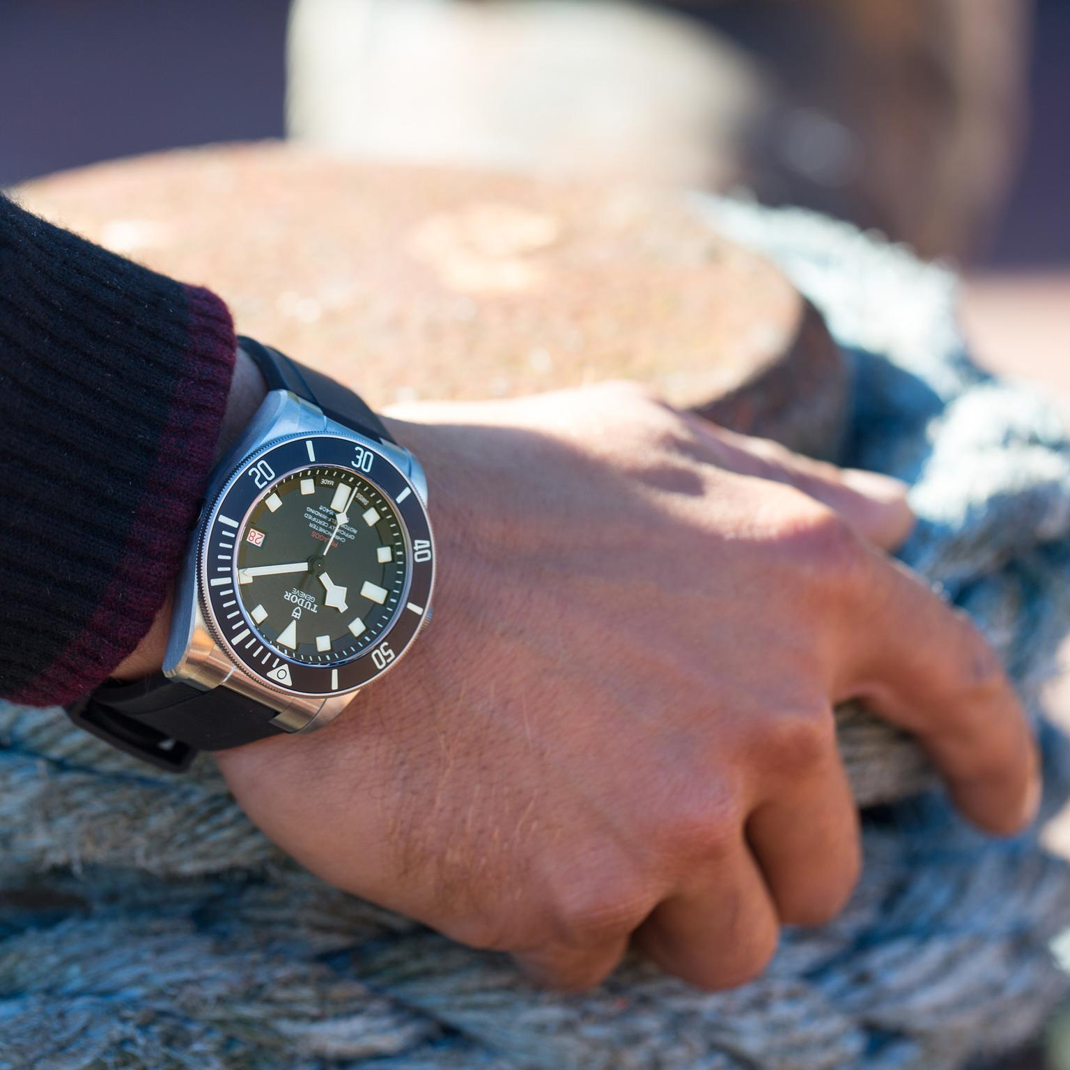 Tudor Pelagos LHD watch model shot