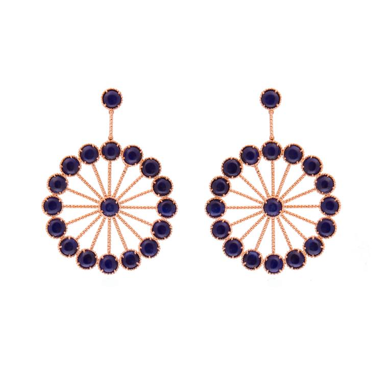 Carla Amorim blue dumortierite earrings