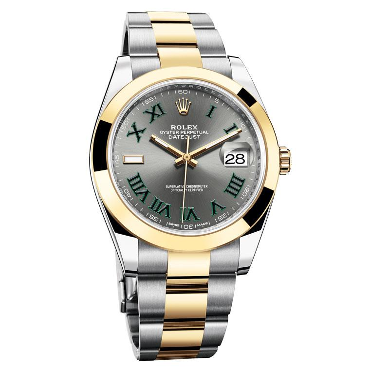Datejust 41mm watch in yellow Rolesor gold