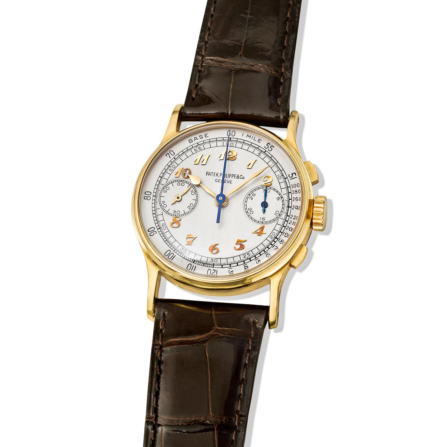 Joe DiMaggio Patek Philippe Ref. 130 chronograph of 1948