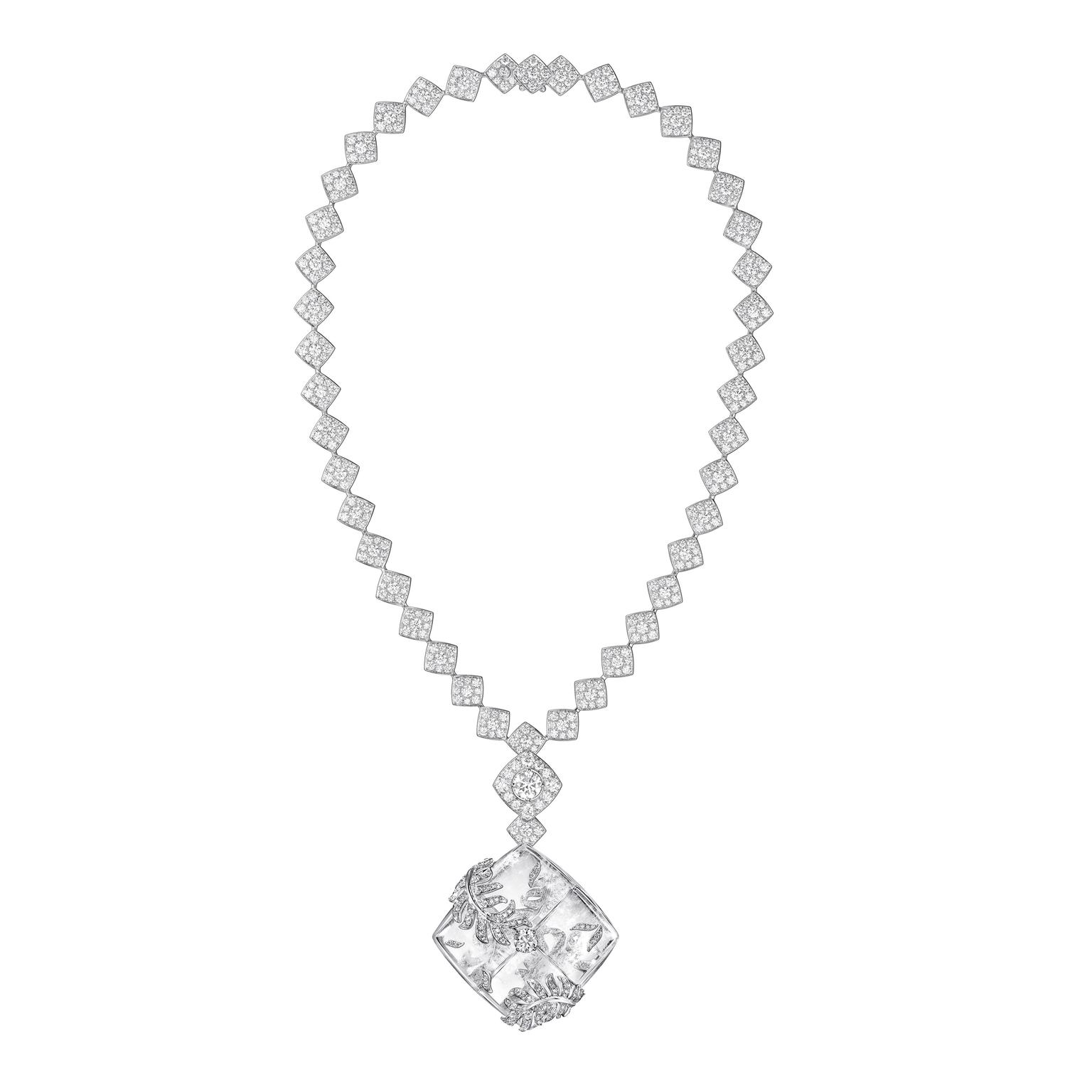 Chanel signature Cocoon rock crystal necklace