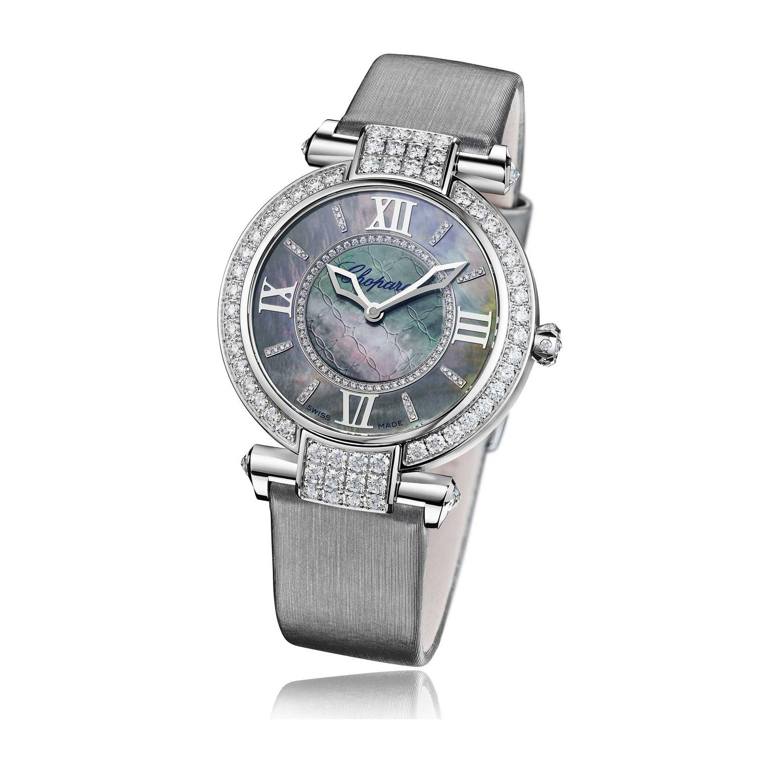Chopard Imperiale 36mm watch with mother of pearl dial