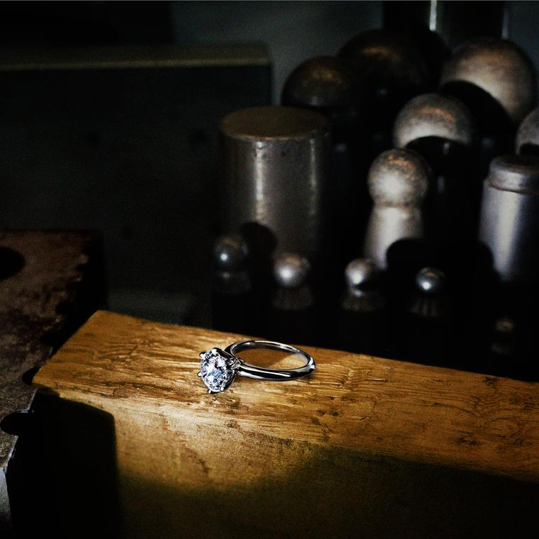 Tiffany diamond ring production