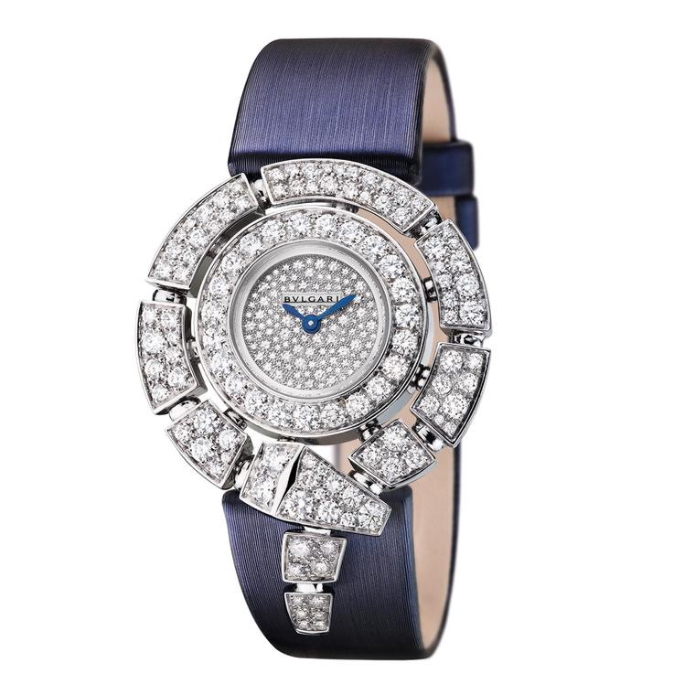 Bulgari Serpenti Incantati white diamond watch