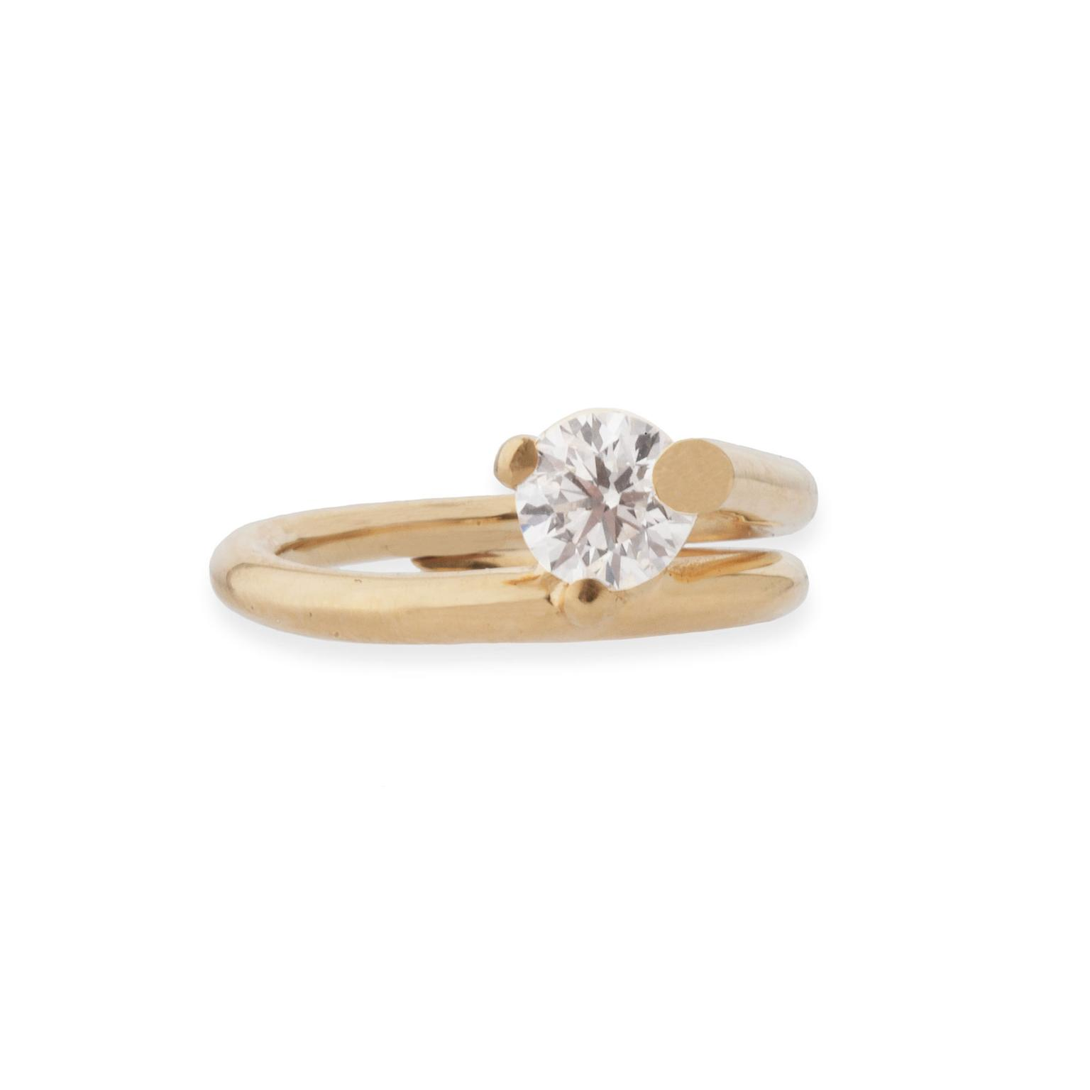 Completedworks twisted diamond engagement ring