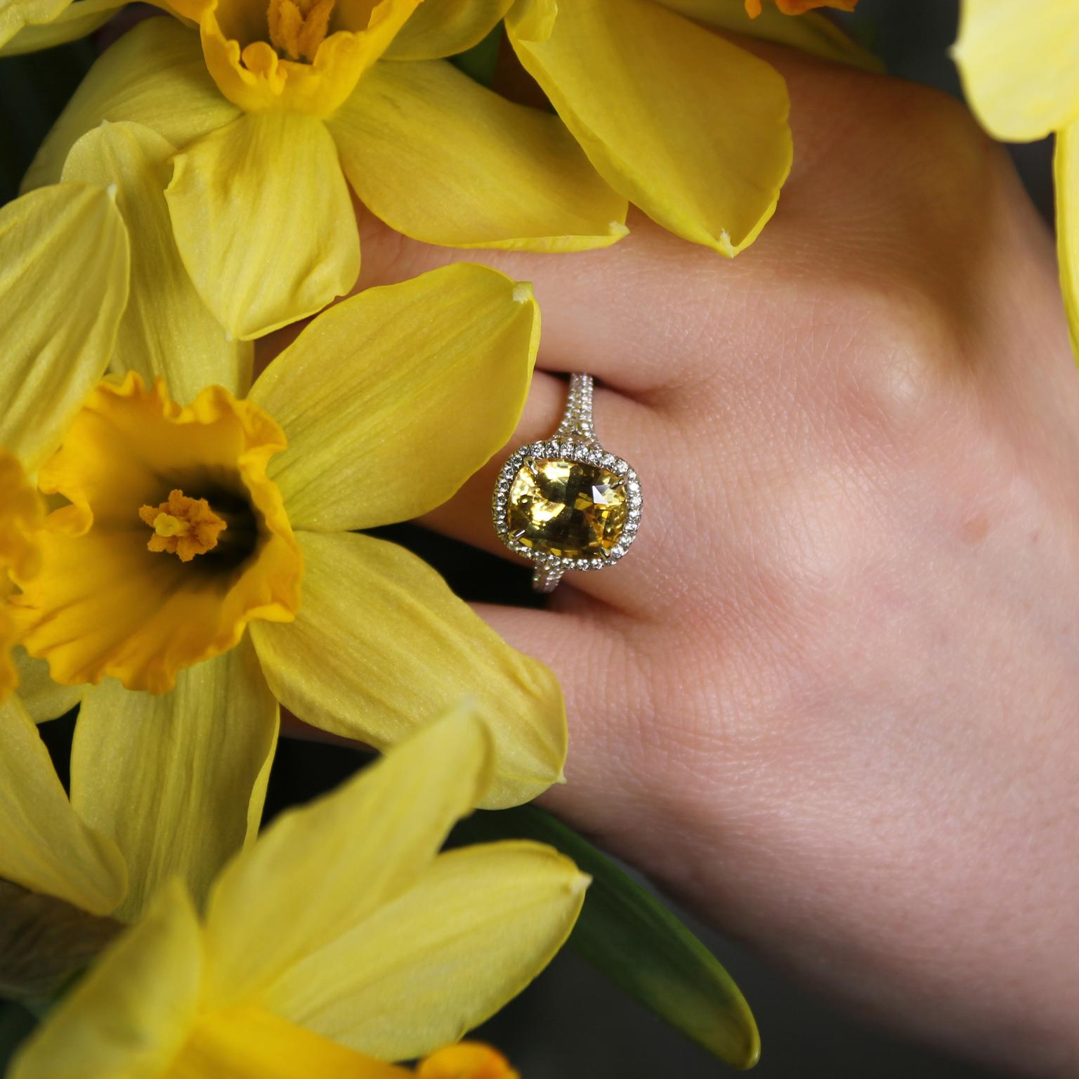 Tiffany yellow sapphire engagement ring