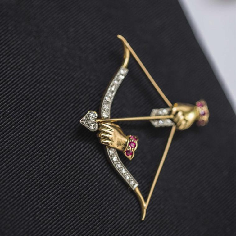 Paul Flato Bow and Arrow vintage brooch