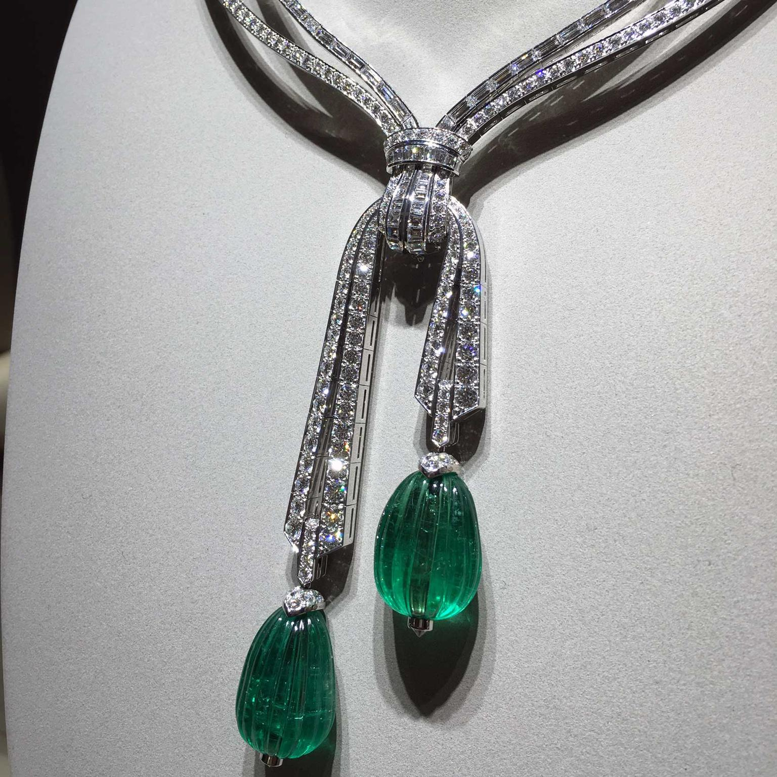 Van Cleef & Arpels Grand Opus carved emerald necklace