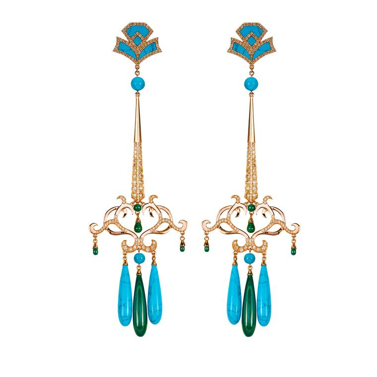 Dionea Orcini Amanée turquoise earrings