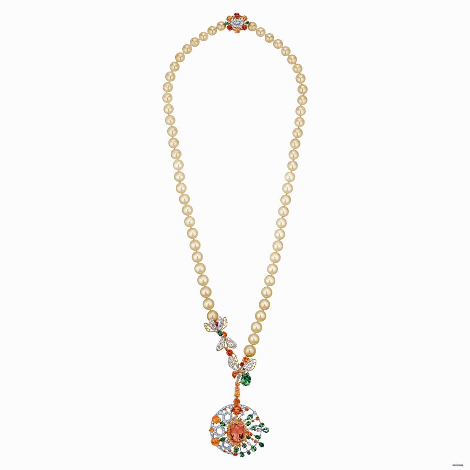 Chaumet Abeille tourmaline and garnet necklace