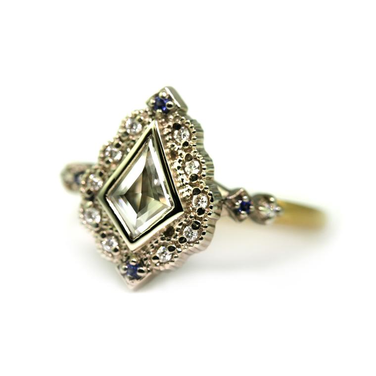 Megan Thorne Ribbon Frame vintage-style engagement ring