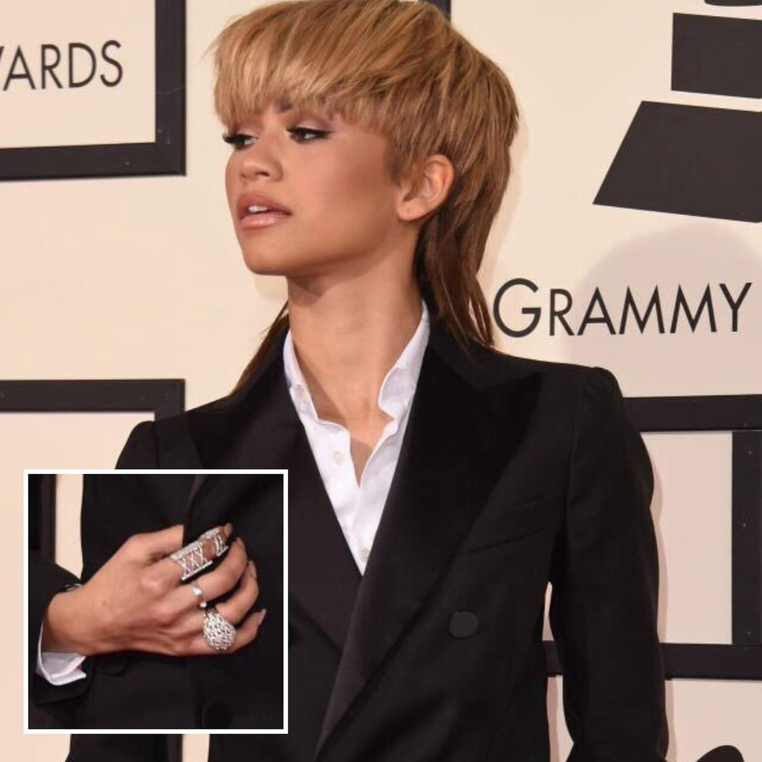 Zendaya wearing Butani and Casa Reale rings