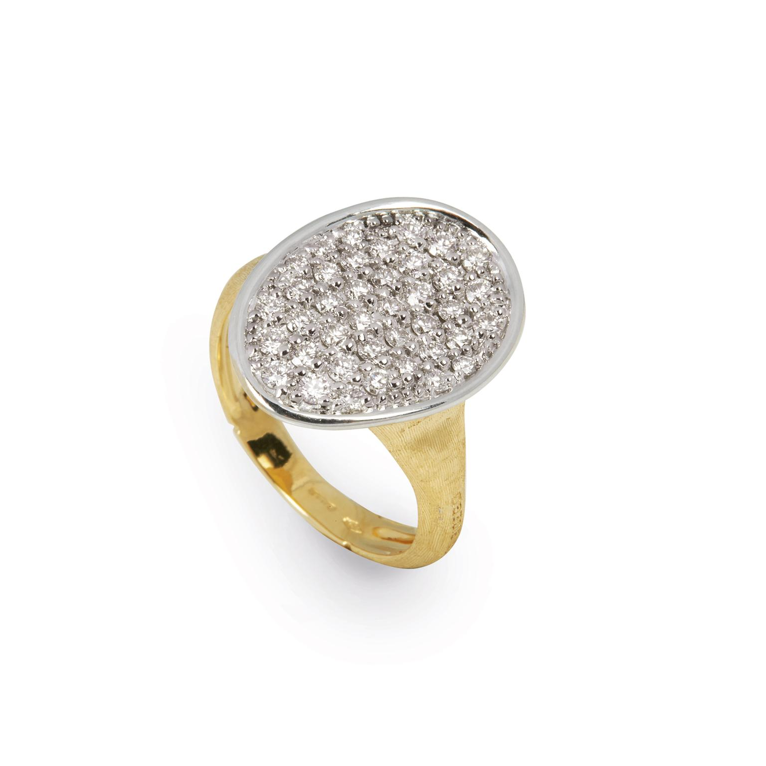 Marco Bicego diamond Lunaria ring in yellow gold