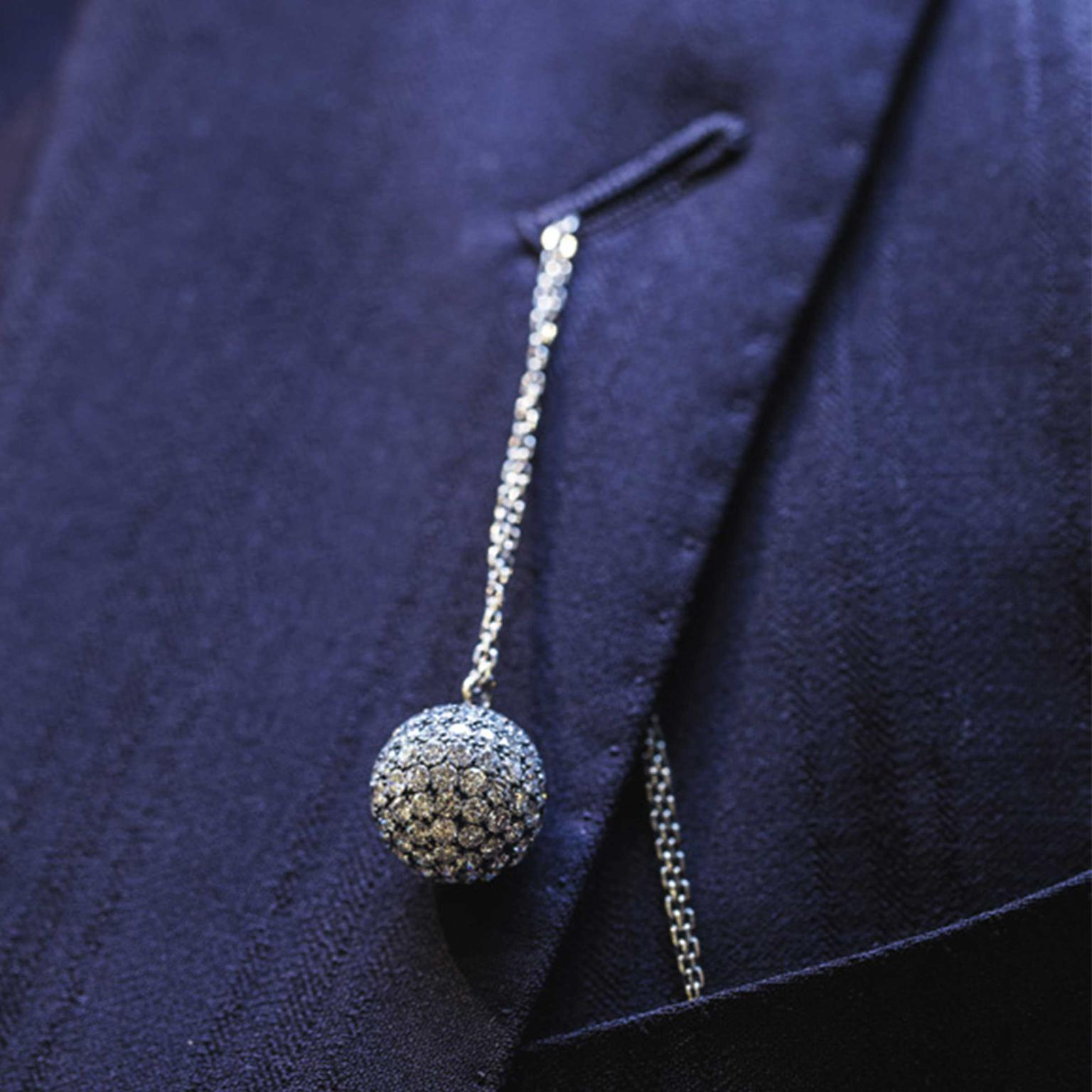 Solange Azagury-Partridge Mirror Ball diamond pendant