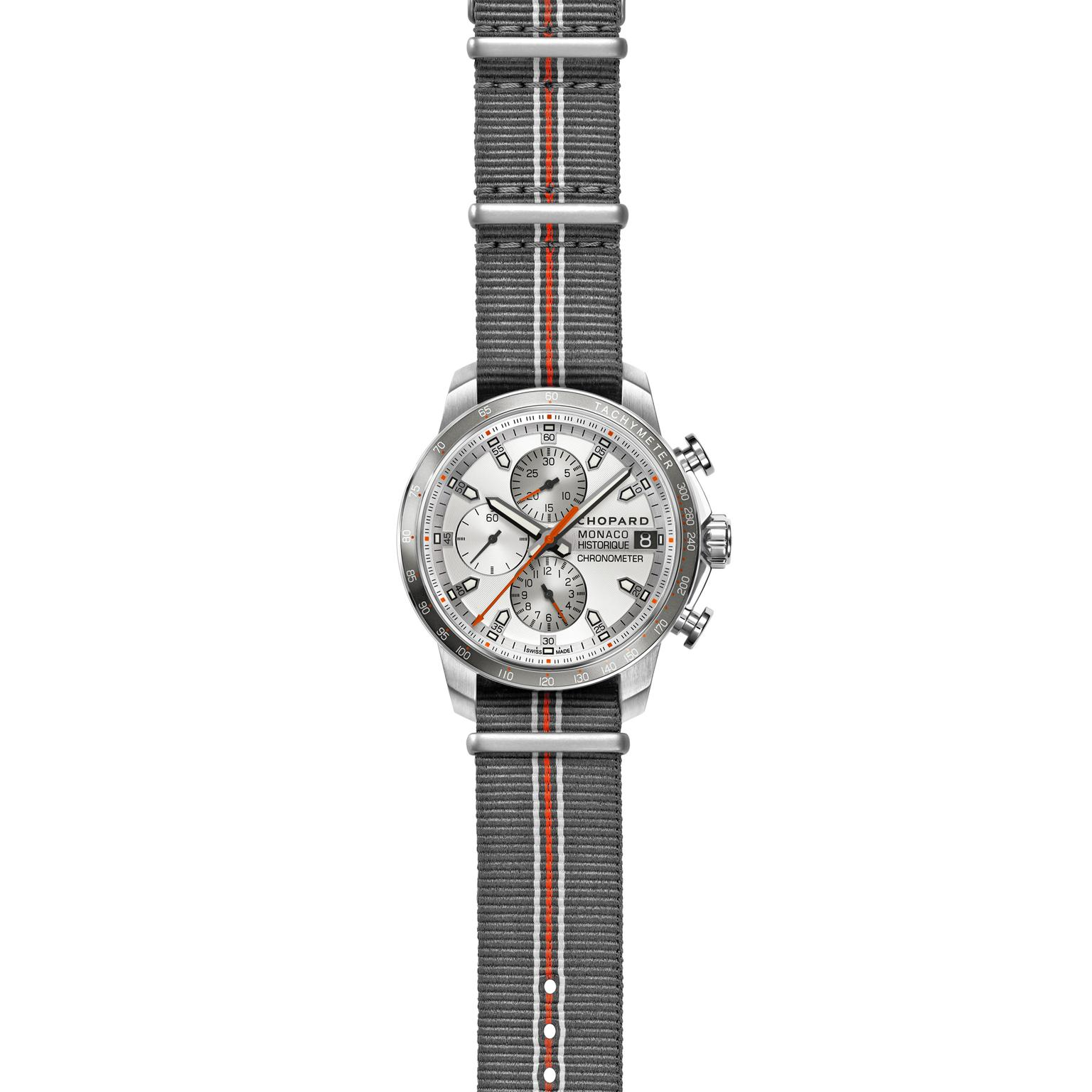 Chopard Grand Prix Monaco Historique chronograph with NATO strap