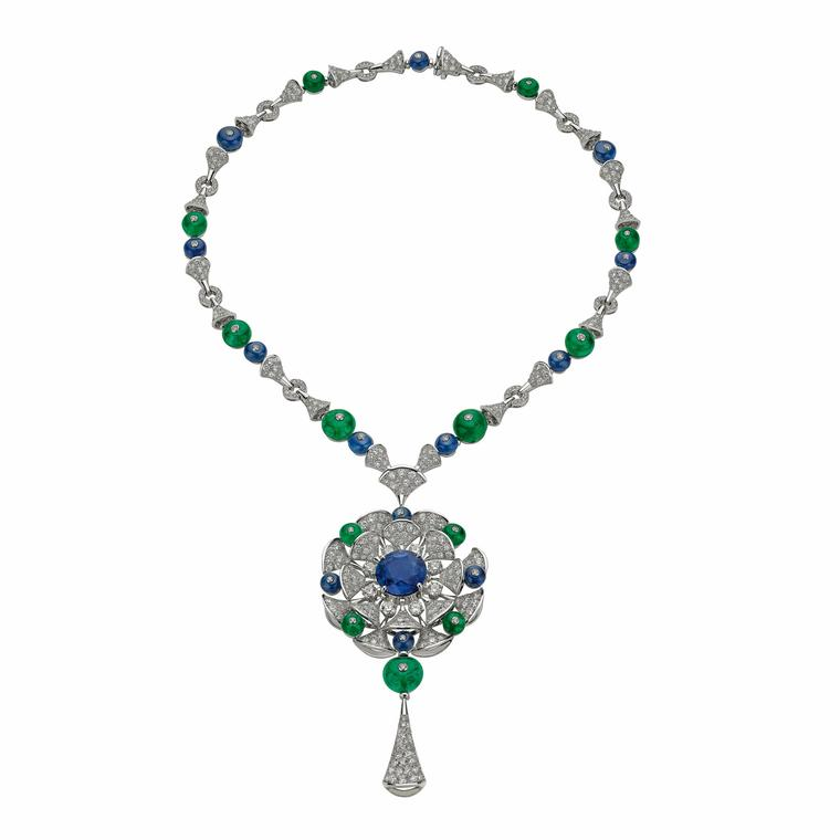 Bulgari high jewellery Sri Lankan sapphire necklace