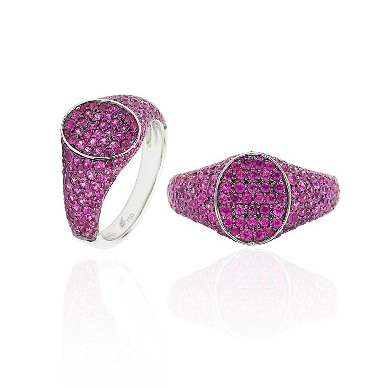 Colette ruby pinky ring