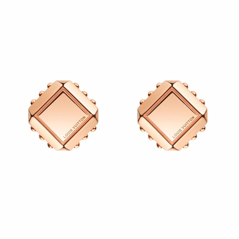 Louis Vuitton Emprise pink gold stud earrings