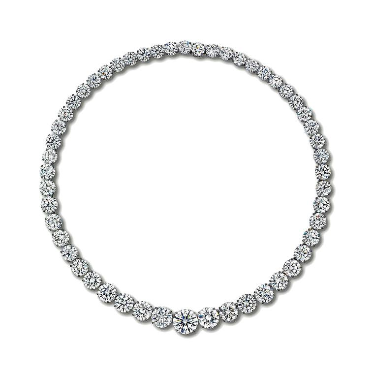Christie's Hong Kong diamond fringe necklace