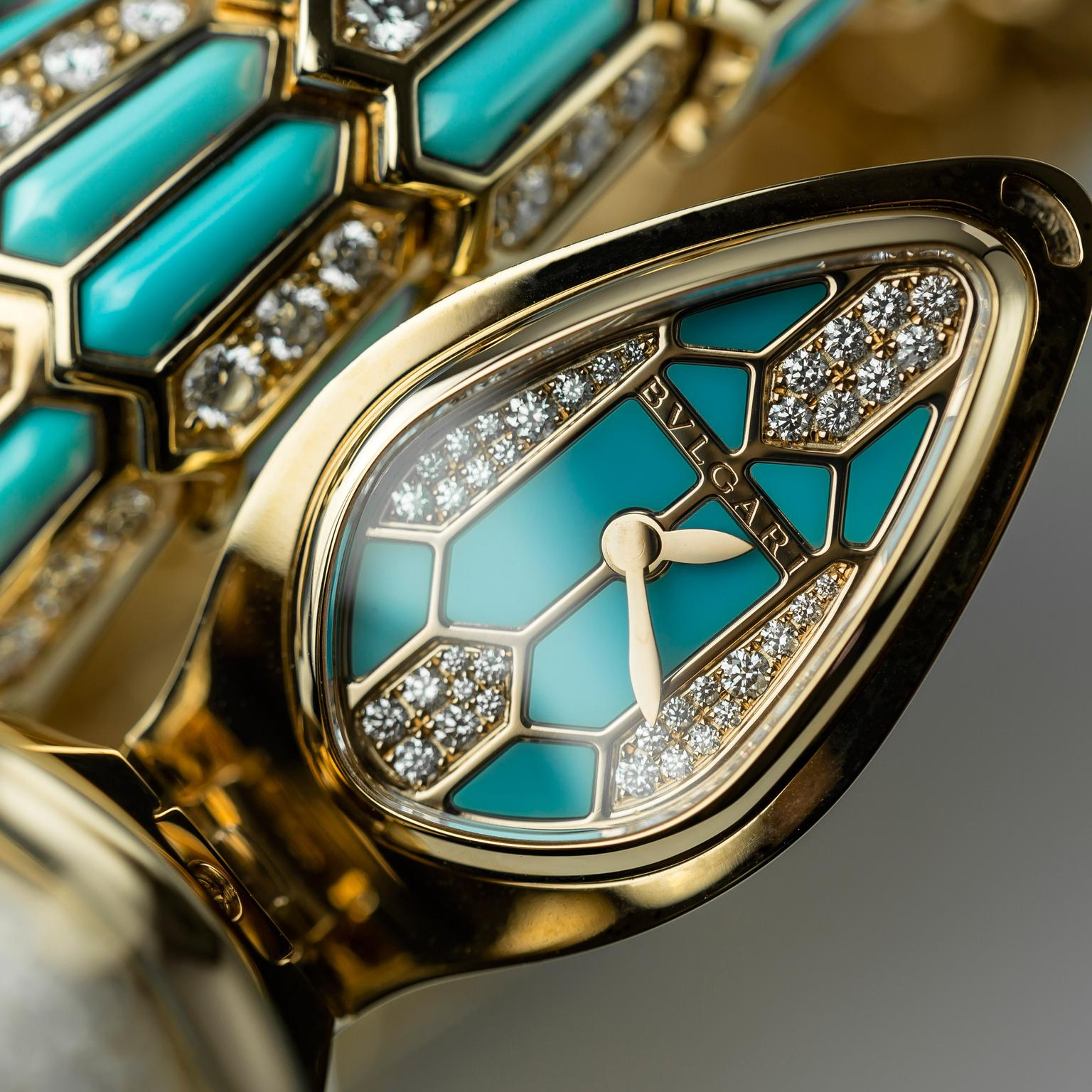 Bulgari Serpenti watch face