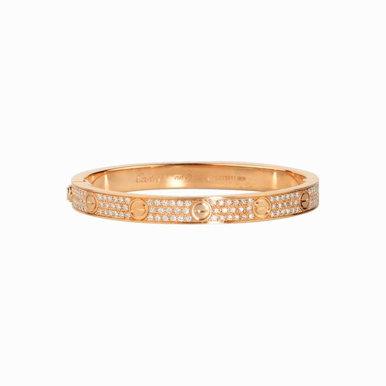 Cartier Love Bracelet rose gold diamonds