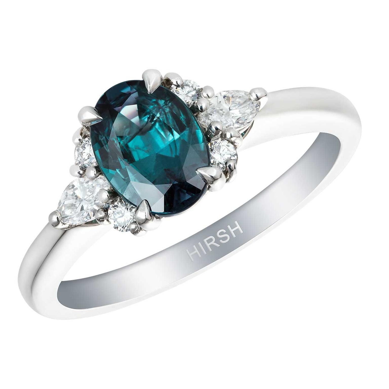 Papillon ring by Hirsh London with Alexandrite