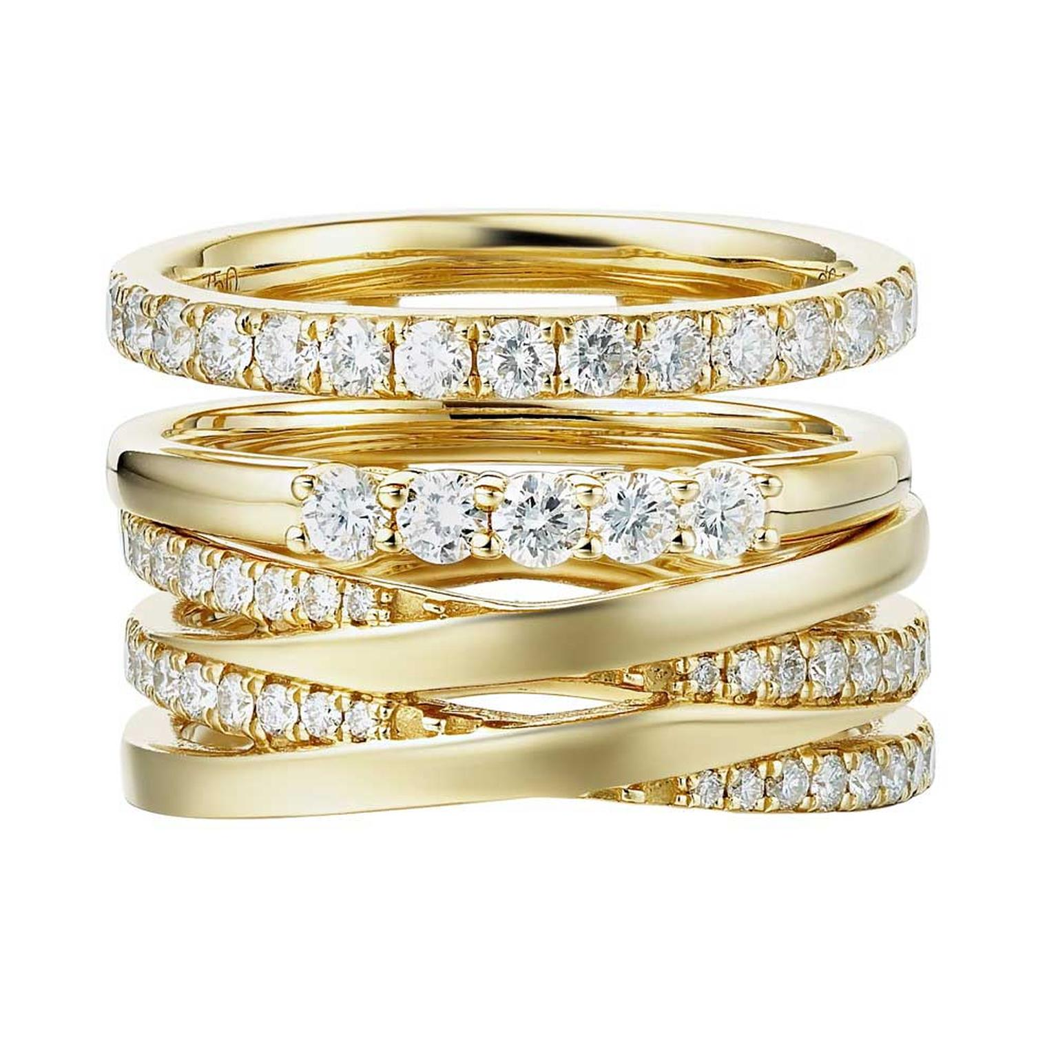Sarah Zhuang yellow gold and diamond ring