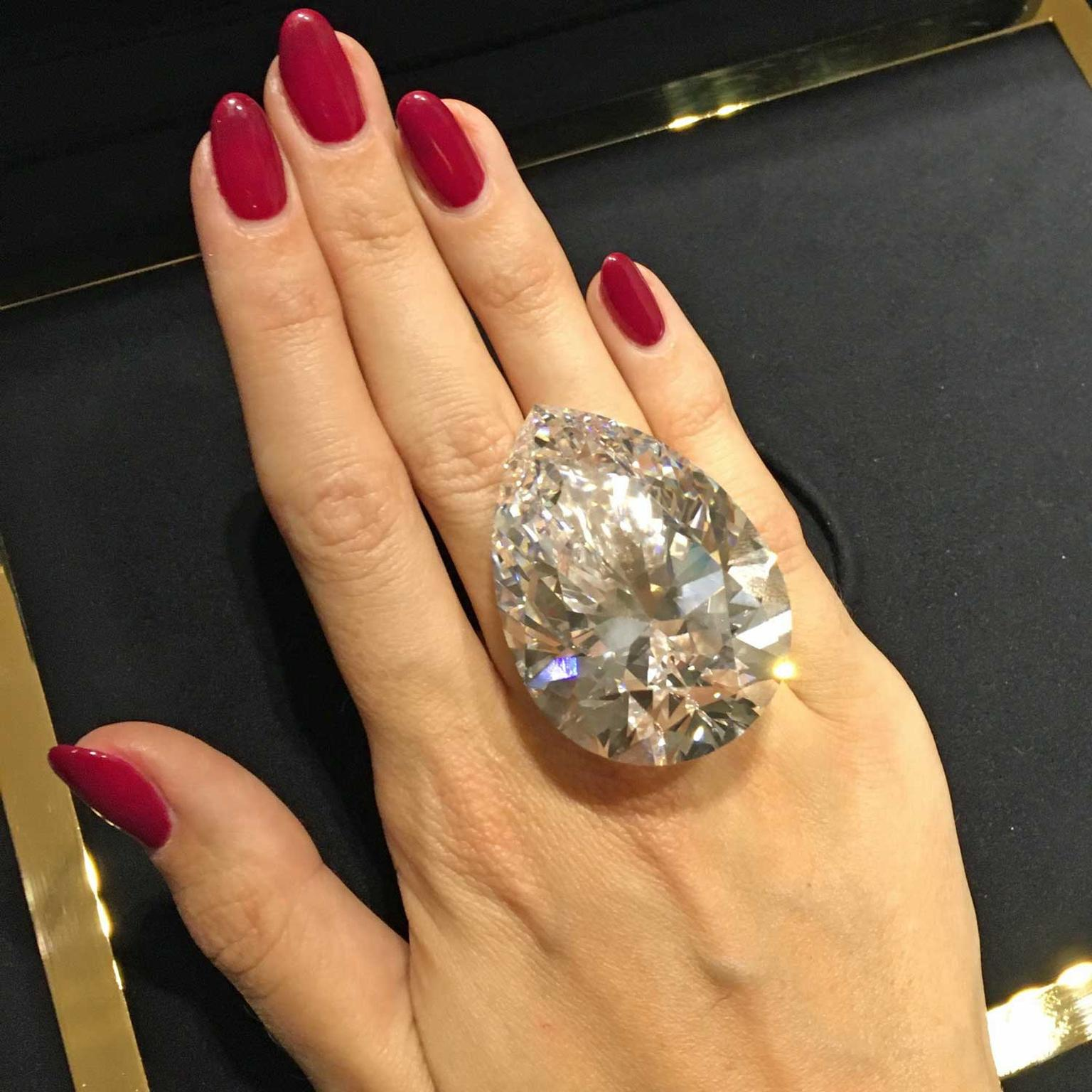 The Harrods 228.31-carat diamond, which is a G colour with VS1 clarity