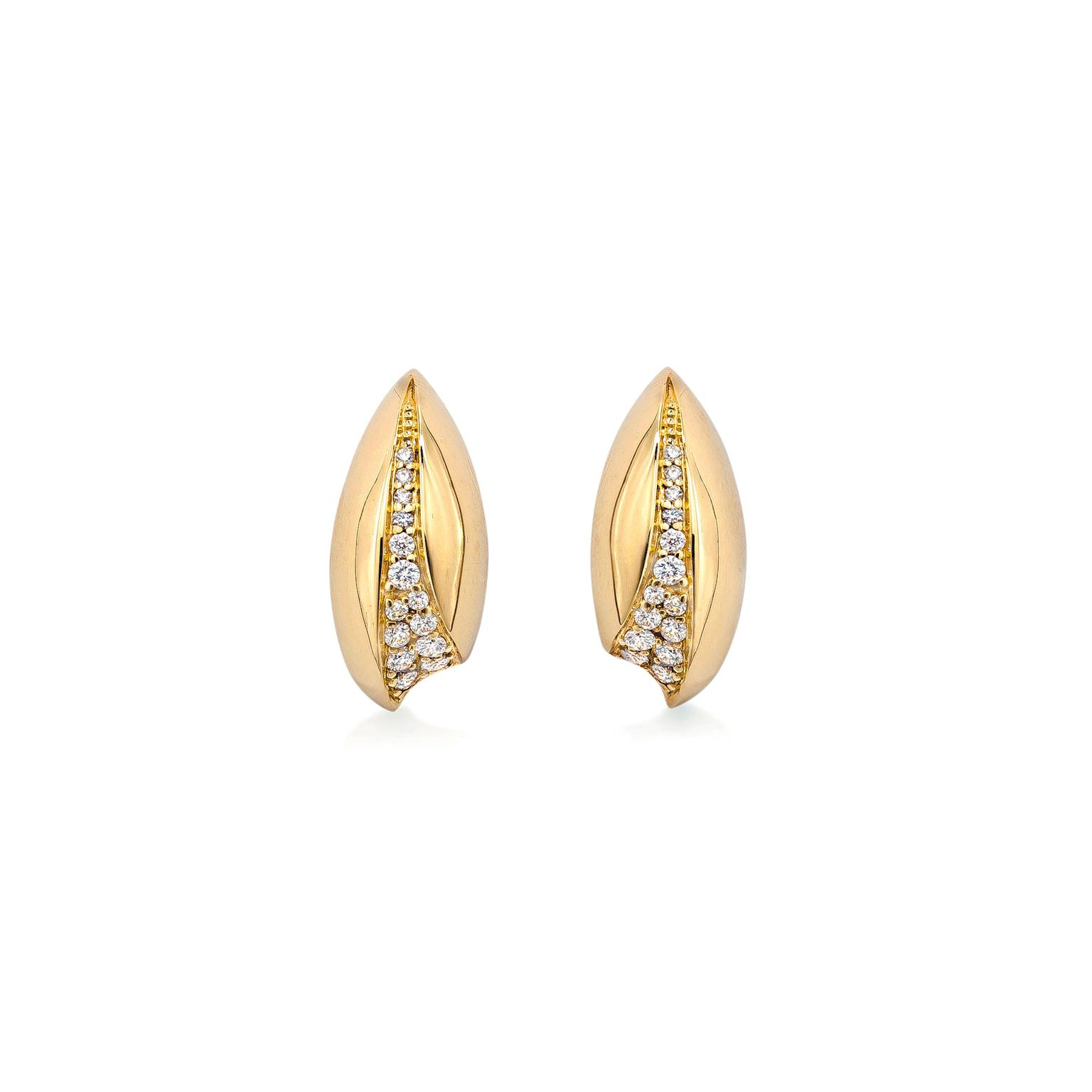 Mappin & Webb Wildfell pavé stud earrings