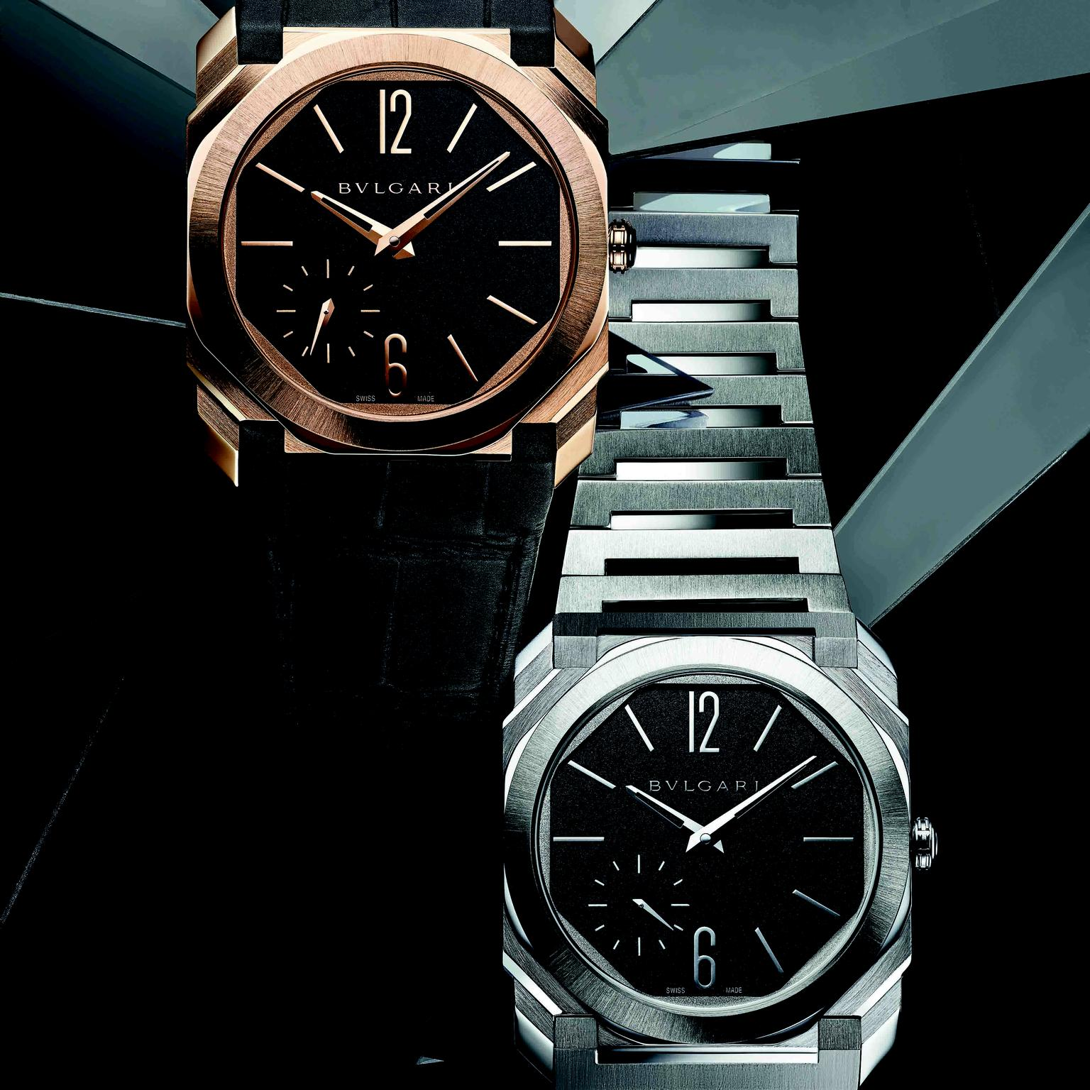 Octo Finissimo Automatic Satin-Polished Steel two version