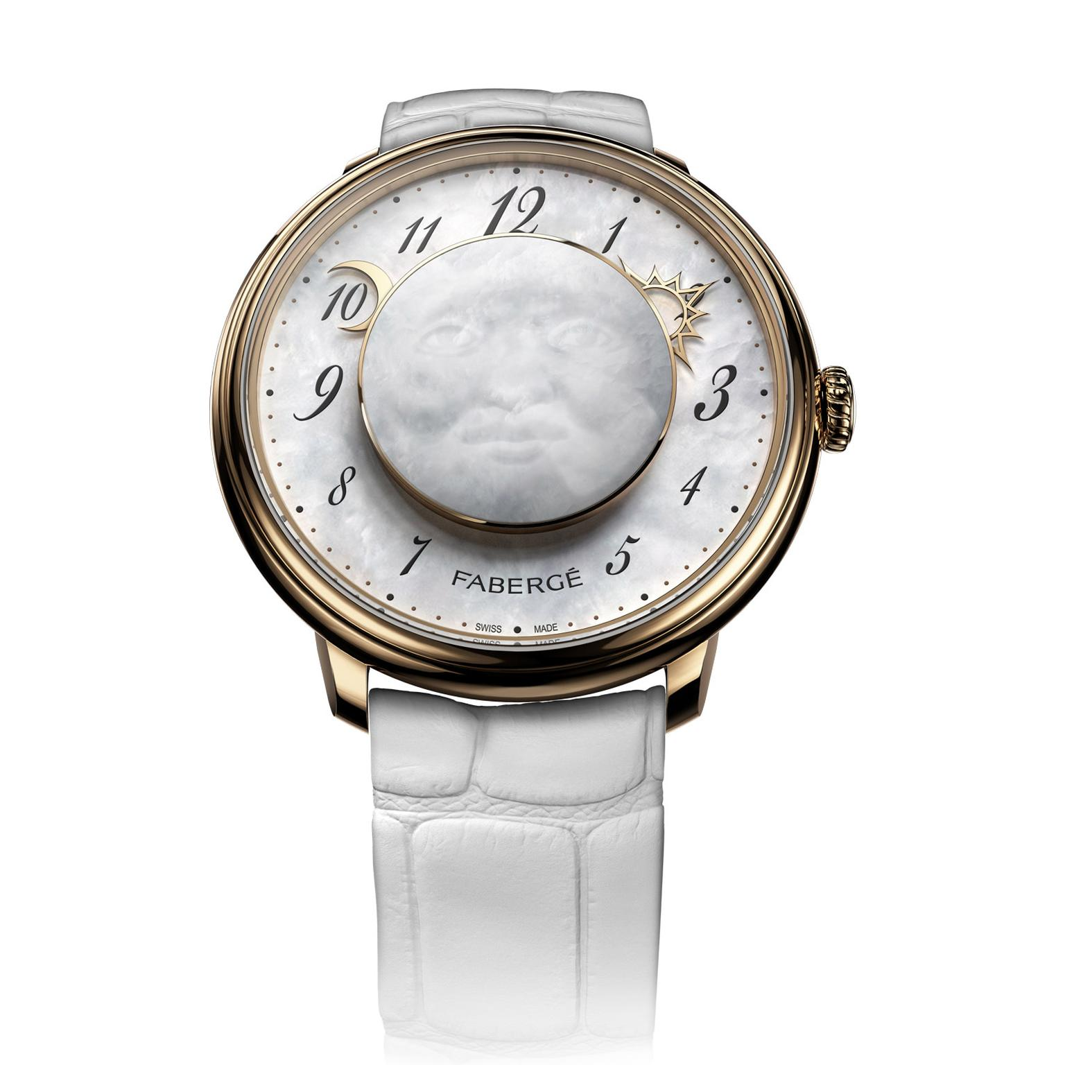 Fabergé Dalliance Lady Levity watch in rose gold