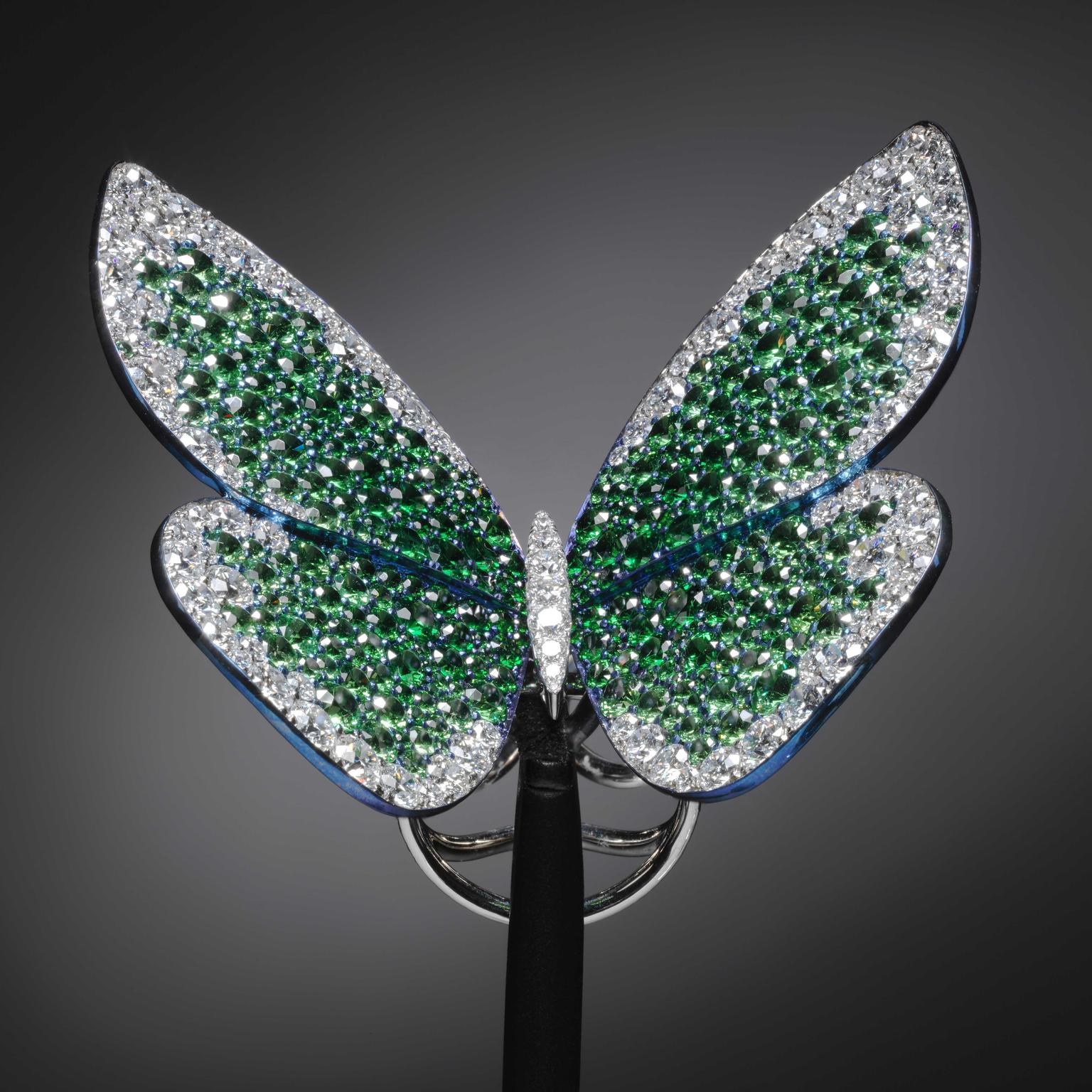 Papillon ring by G Glenn Spiro that Beyonce has donated to V and A museum in London