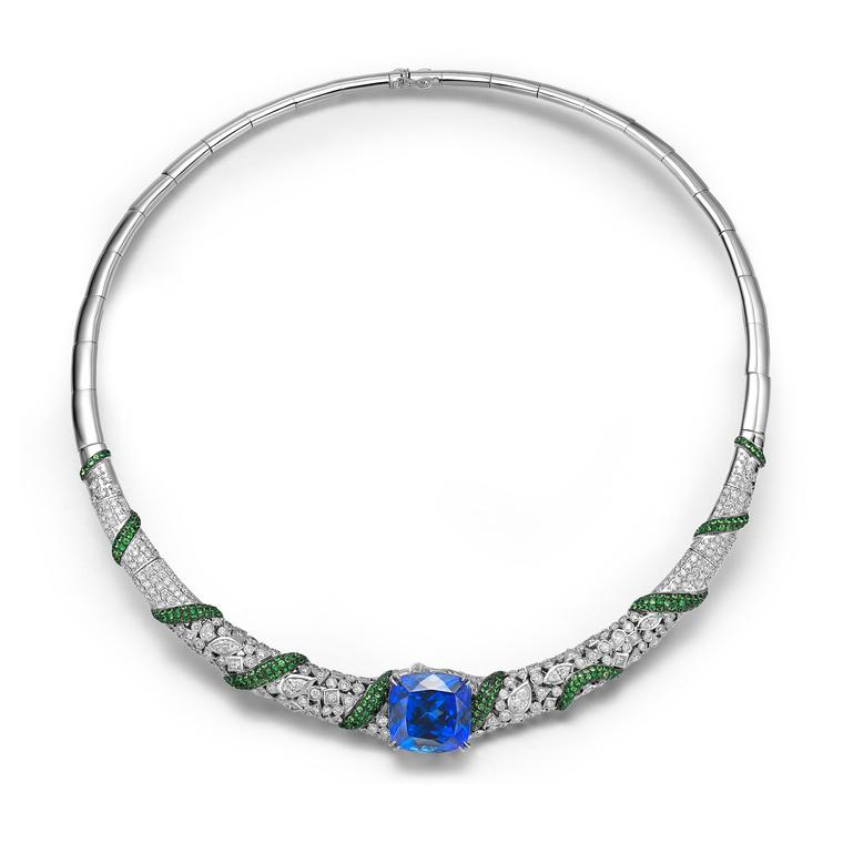 Fei Liu jewellery tanzanite necklace