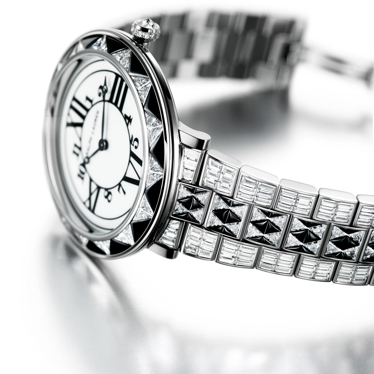Ralph Lauren RL888 Deco Diamond watch and white gold strap