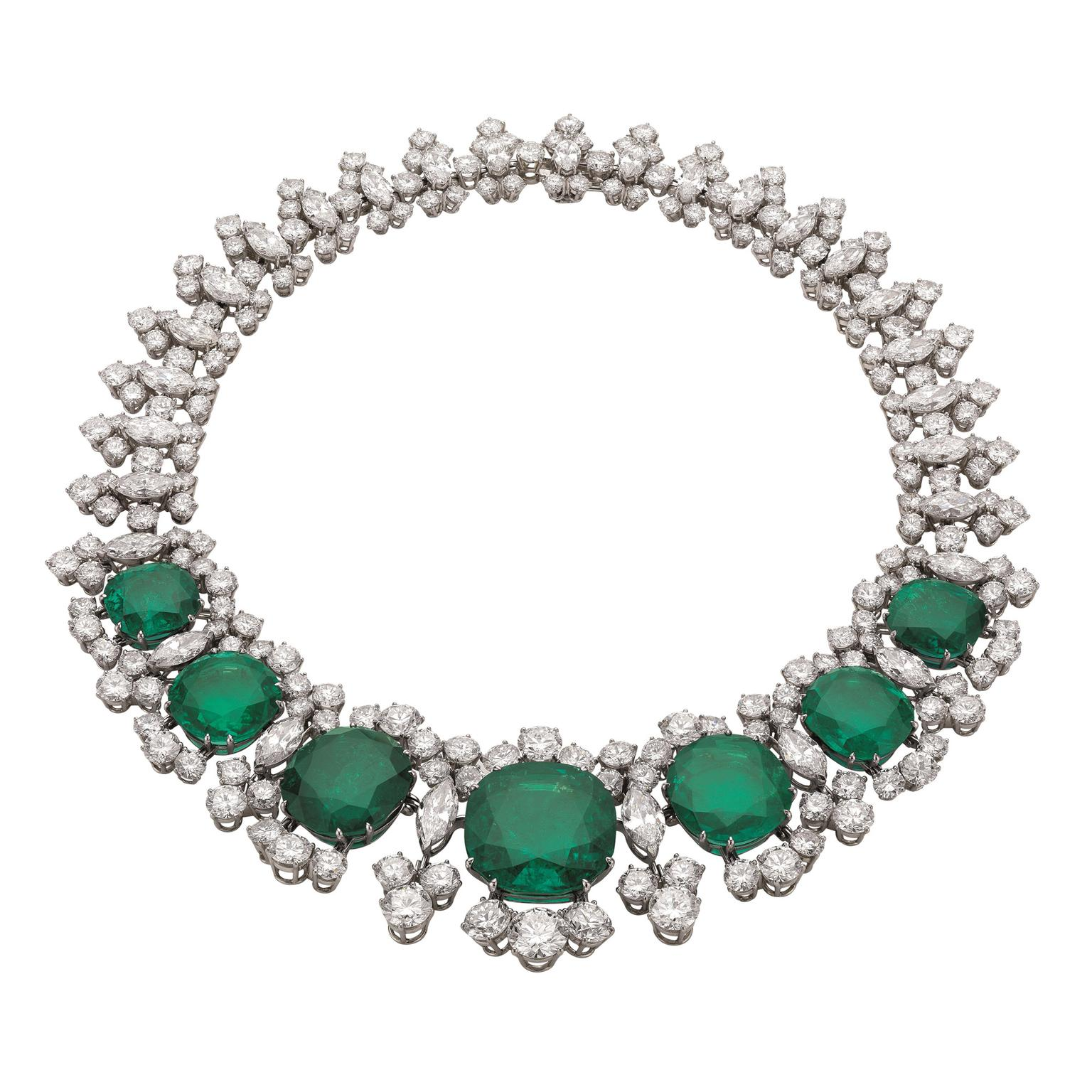 Heritage Bulgari Seven Wonders Colombian emerald necklace