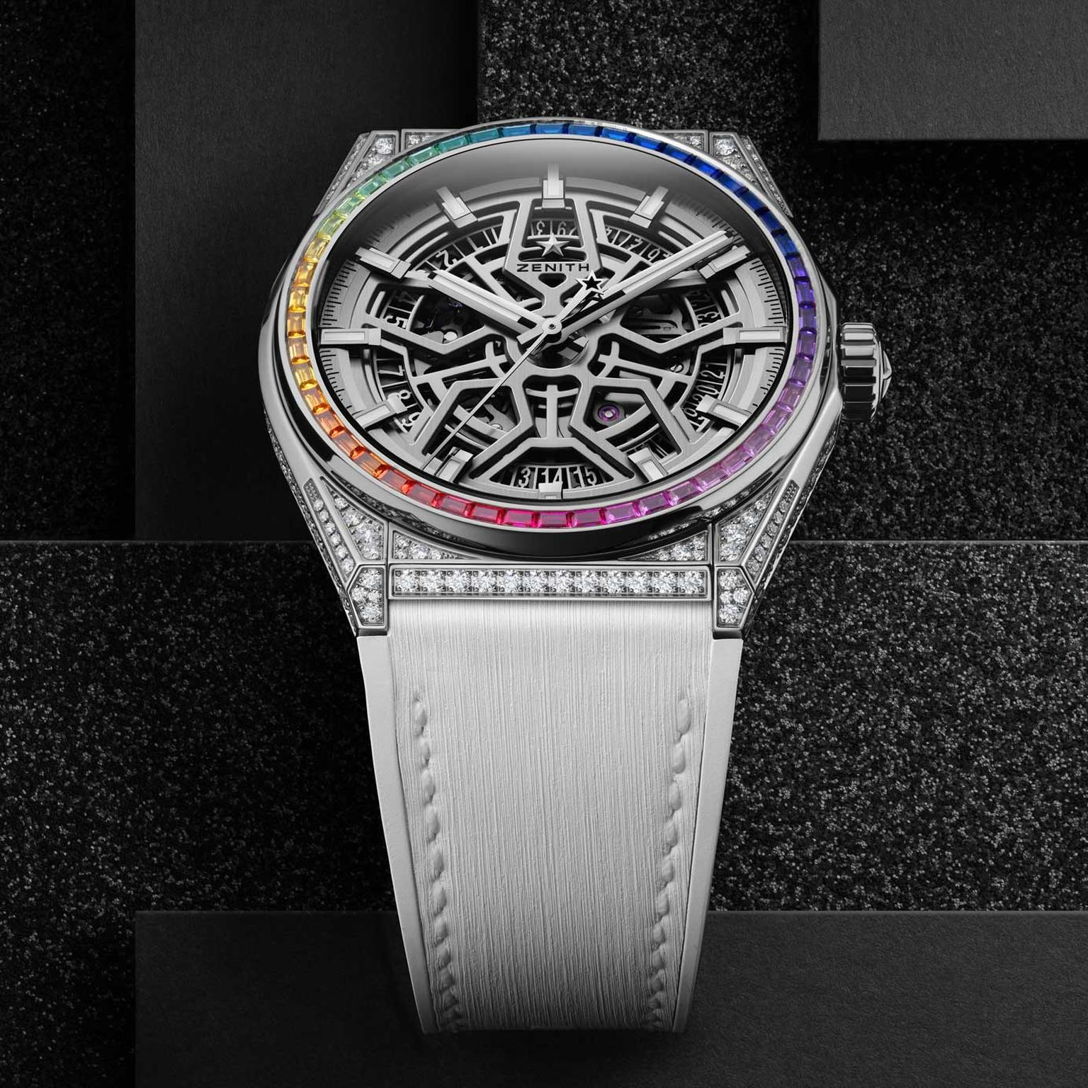 Zenith Defy Classic High Jewelry Rainbow titanium watch