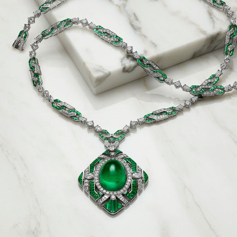 Bulgari Festa The Green Liz emerald high jewellery necklace