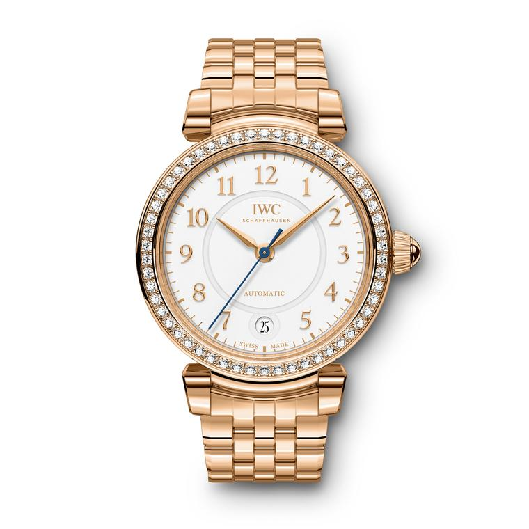 Da Vinci Automatic red gold and diamond watch