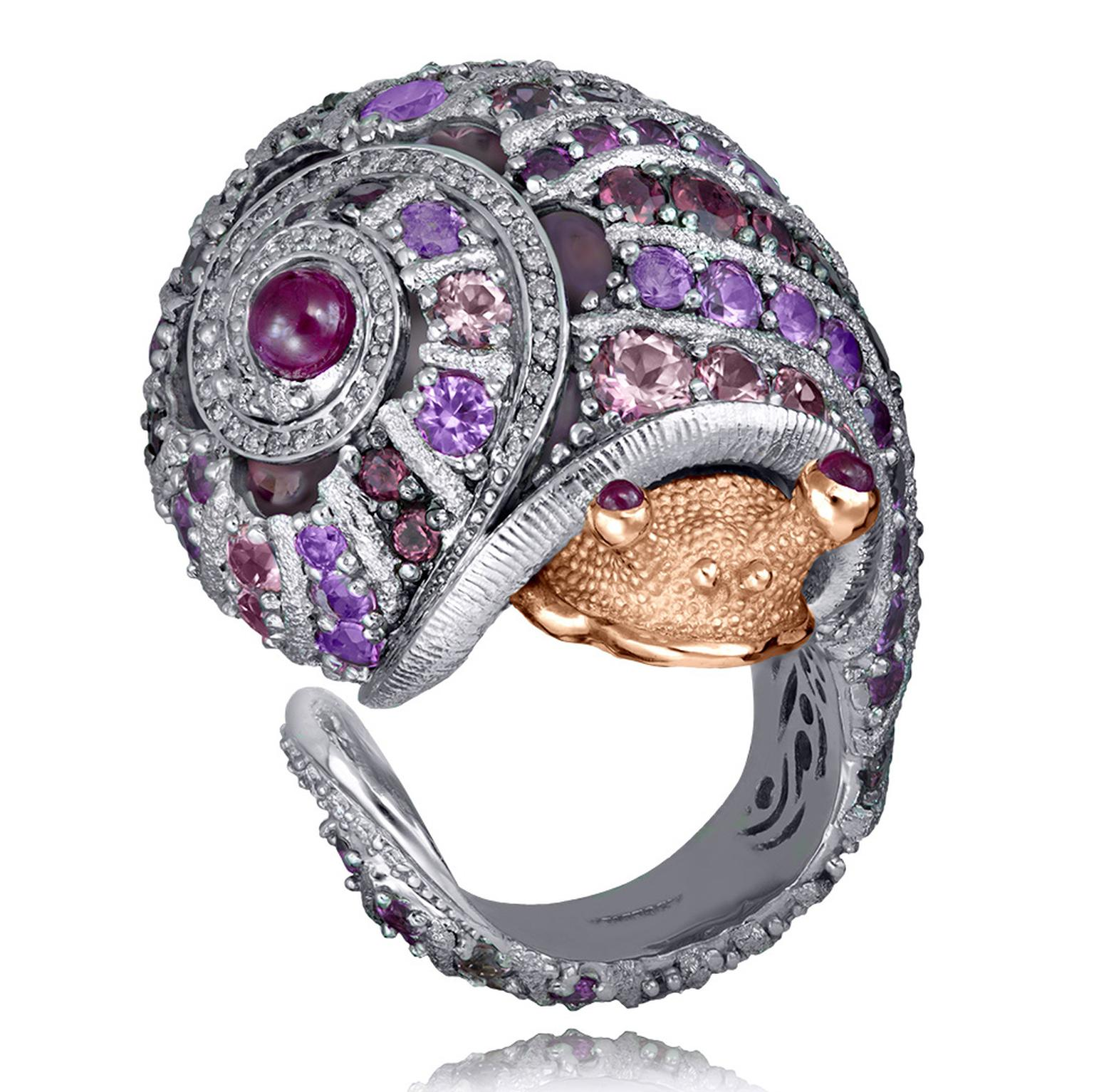 Gold Rosy The Snail Ring